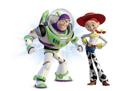 Footer image of Buzz Lightyear and Jessie