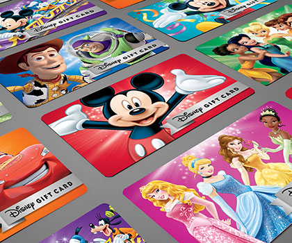 Disney Gift Cards.  Click to start shopping.