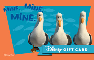 finding nemo cards disney gift card
