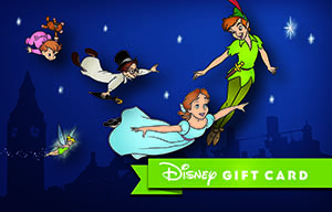 Peter Pan You Can Fly Gift Card Disney Gift Card