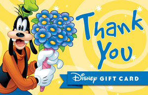 thank you cards disney gift card
