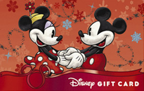 classic mickey amp minnie holding hands gift card disney